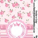 Bisnaga Brigadeiro 30gr Coroa de Princesa Rosa Floral