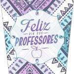 Bisnaga Flip Top Dia Dos Professores Coruja Roxa e Azul 2