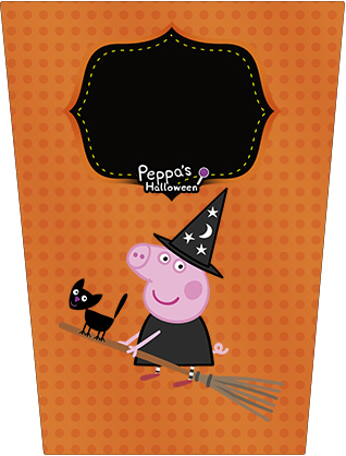 Bisnaga Flip Top Peppa Pig Halloween