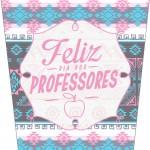 Bisnaga Flip Top para Hidratante Dia Dos Professores Coruja Rosinha e Azul