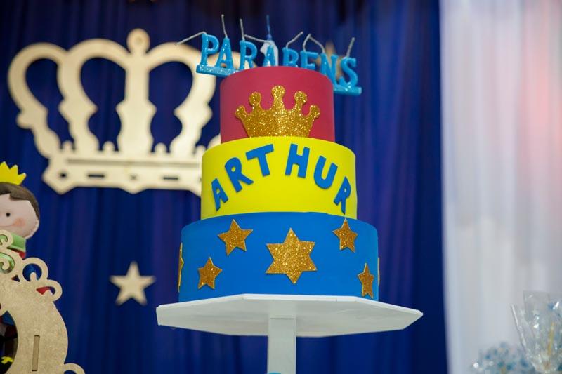Bolo Festa Pequeno Príncipe do Arthur