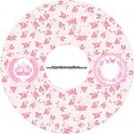 CD DVD Coroa de Princesa Rosa Floral