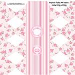 Caixa Bala Coroa de Princesa Rosa Floral