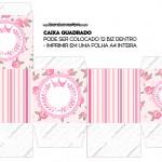 Caixa Bis Coroa de Princesa Rosa Floral