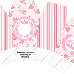 Caixa China in Box Coroa de Princesa Rosa Floral