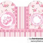 Caixa Coração Coroa de Princesa Rosa Floral
