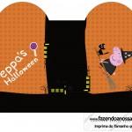 Caixa Coração Peppa Pig Halloween