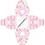 Caixa Coroa de Princesa Rosa Floral