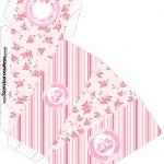 Caixa Fatia Coroa de Princesa Rosa Floral