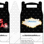 Caixa Lembrancinha Kit Festa Las Vegas Poker