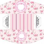 Caixa Mini Cachorro quente Coroa de Princesa Rosa Floral