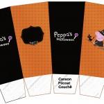 Caixa Pipoca Peppa Pig Halloween