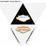 Caixa Pirâmide Kit Festa Las Vegas Poker
