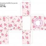 Caixa Tubete Coroa de Princesa Rosa Floral