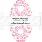 Caixa Vestido Coroa de Princesa Rosa Floral