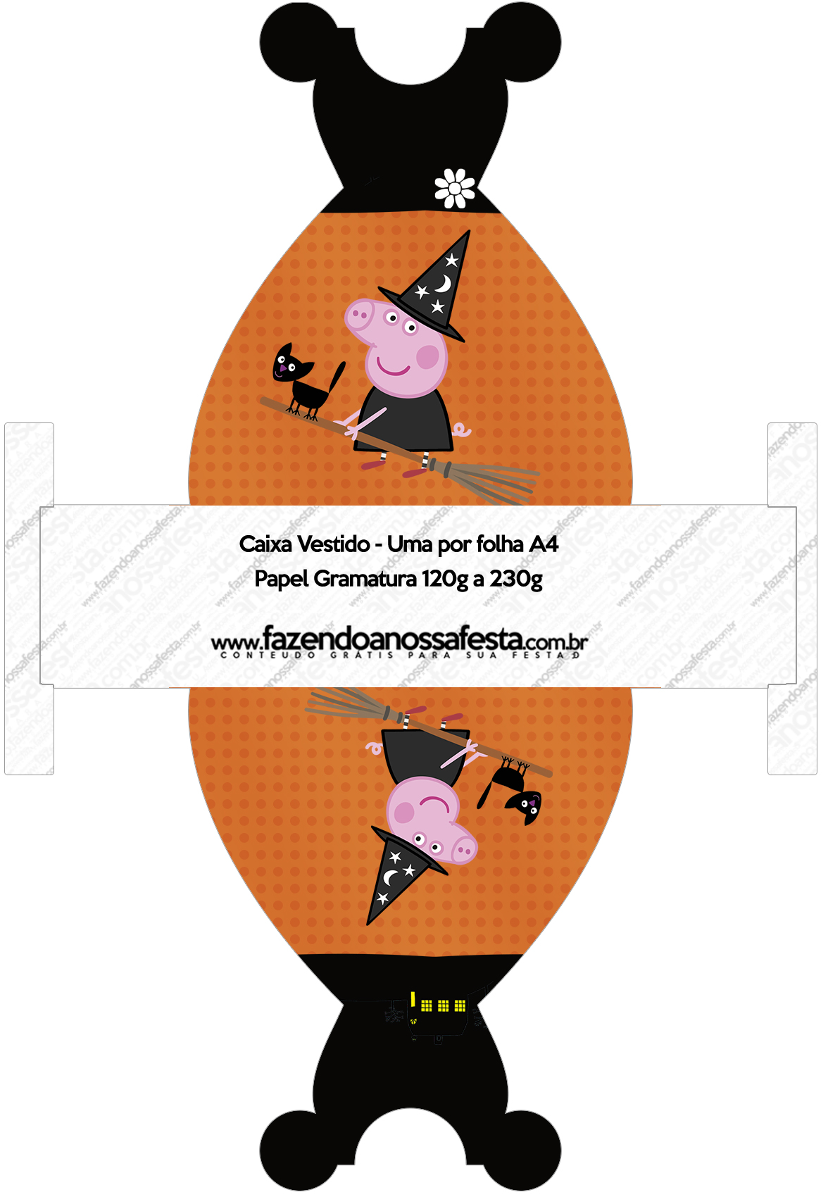 Caixa Vestido Peppa Pig Halloween