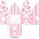 Caixa com foto Coroa de Princesa Rosa Floral