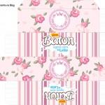Caixa de Baton Coroa de Princesa Rosa Floral