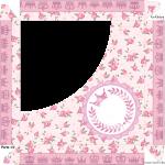 Caixa de Bombom Coroa de Princesa Rosa Floral - Parte de cima