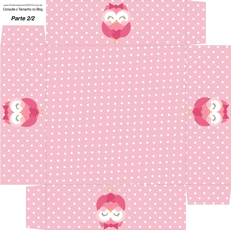 Excepcional Kit Dia dos Professores Corujinha Rosa - Grátis MM69