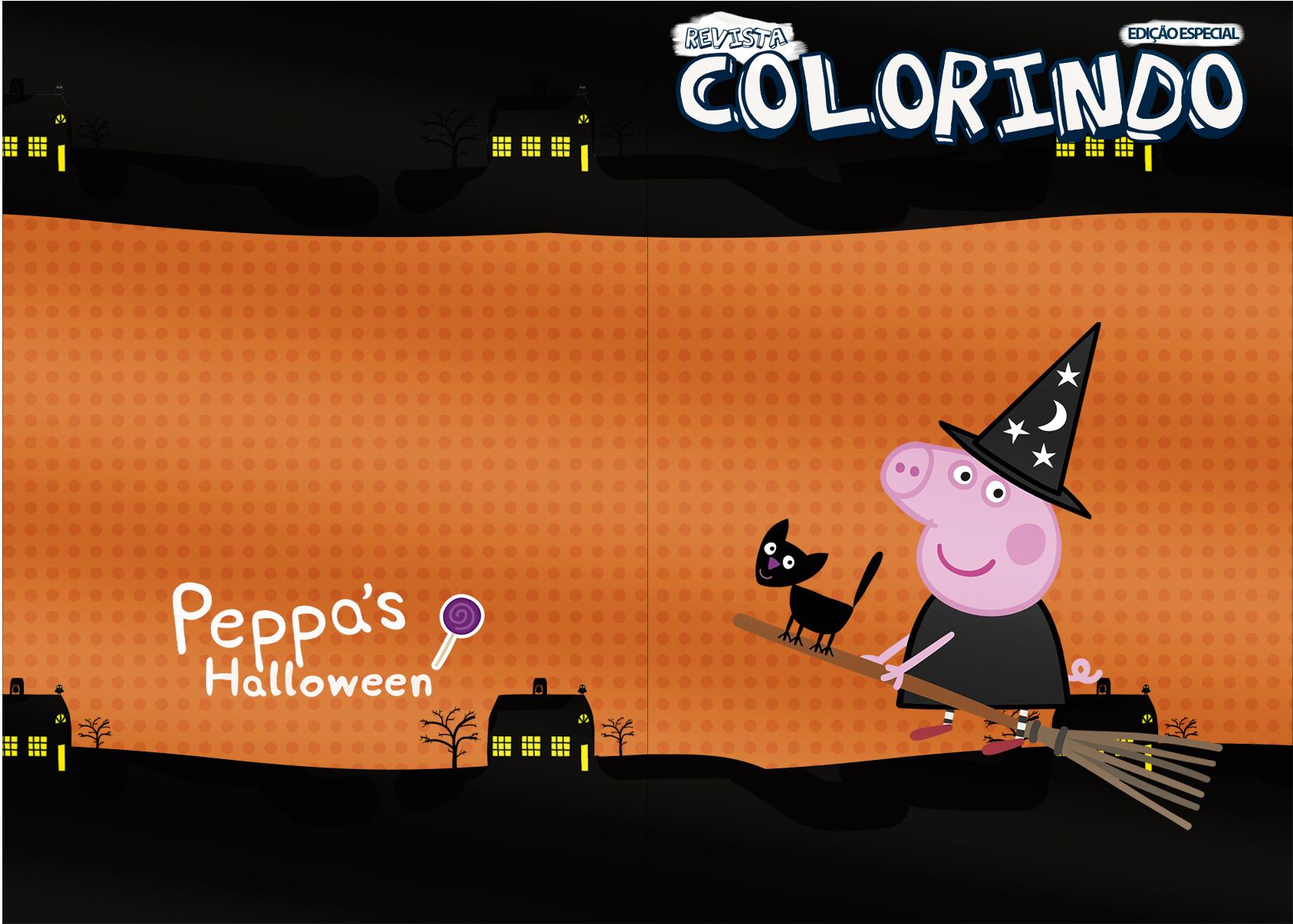 Capa Revista Colorindo Peppa Pig Halloween