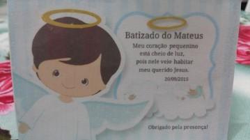 Cartão Agradeciemento de Mesa Batizado do Mateus
