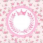 Cartão Coroa de Princesa Rosa Floral