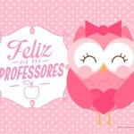 Cartão Dia dos Professores Corujinha
