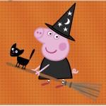 Cartão Peppa Pig Halloween