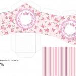 Casinha Coroa de Princesa Rosa Floral