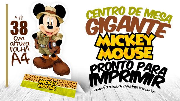Baixe Grátis centro de Mesa Mickey Safari