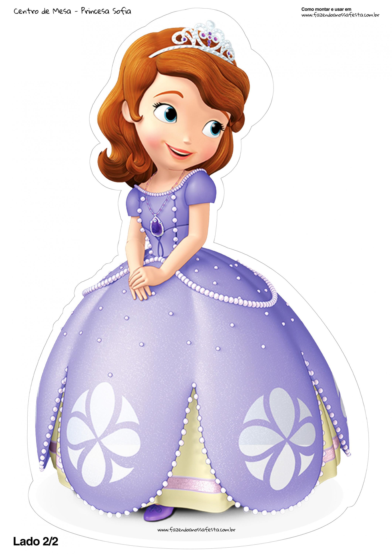 Centro de mesa toten princesa sofia 1 2 fazendo a nossa - Foto princesa sofia ...