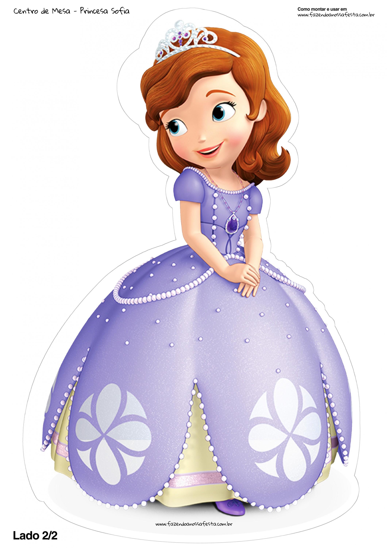 Centro de mesa toten princesa sofia 2 2 fazendo a nossa - Foto princesa sofia ...