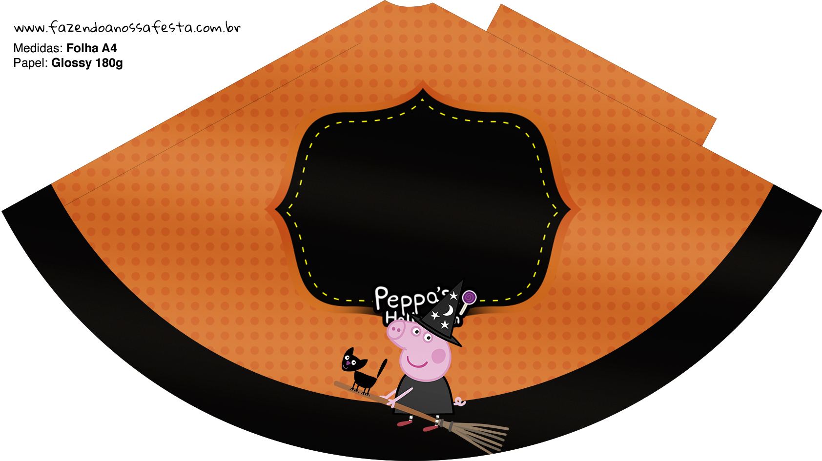 Chápeu de festa Peppa Pig Halloween