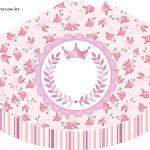 Chápeuzinho de Festa Coroa de Princesa Rosa Floral
