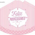 Chápeuzinho de festa Dia dos Professores Corujinha Rosa