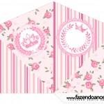 Cone Guloseimas 4 lados Coroa de Princesa Rosa Floral