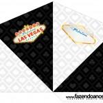 Cone Guloseimas 4 lados Kit Festa Las Vegas Poker