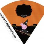 Cone Guloseimas Peppa Pig Halloween