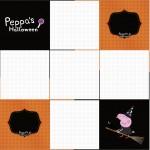 Convite Caixa Fundo Peppa Pig Halloween