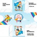 Convite Caixa Tampa Dia das Crianças Lembrancinha