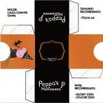 Convite Caixa Tampa Peppa Pig Halloween