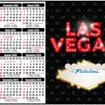 Convite Calendário 2015 Kit Festa Las Vegas Poker