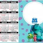 Convite Calendário 2015 Monstros SA