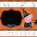 Convite Calendário 2015 Peppa Pig Halloween 2