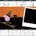 Convite Calendário 2015 Peppa Pig Halloween 3