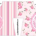 Convite Camisa Coroa de Princesa Rosa Floral