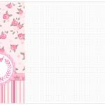 Convite, Cardápio ou Cronograma em Z Coroa de Princesa Rosa Floral