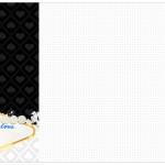 Convite, Cardápiou ou Cronograma em Z Kit Festa Las Vegas Poker