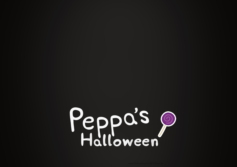 Convite Chalkboard 3 Peppa Pig Halloween